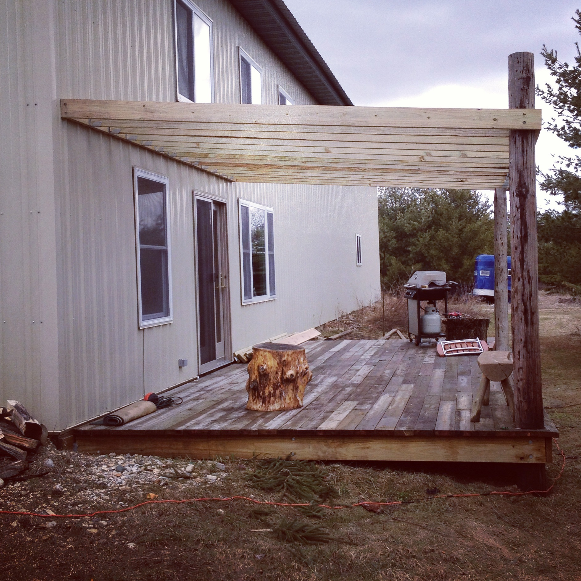 building a lean to roof over deck pictures to pin on
